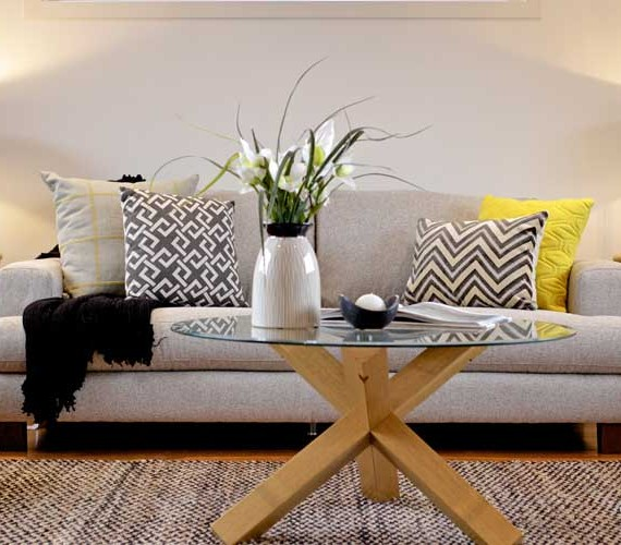 Lounge room styling by Shift Property Styling