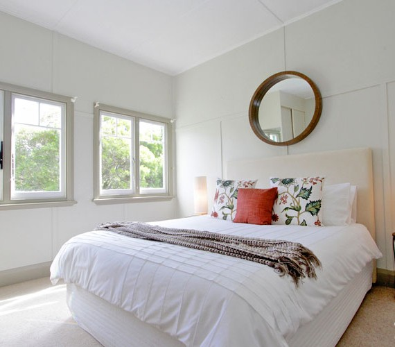 Master bedroom styled for sale by Shift Property Styling