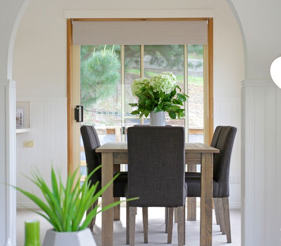 Dining room styled for sale.