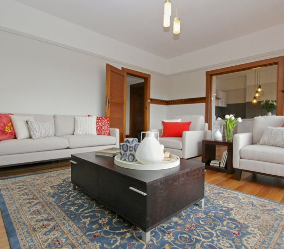 Lounge room home styling with plenty of details