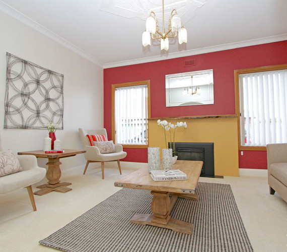 Property staging a lounge room Hobart