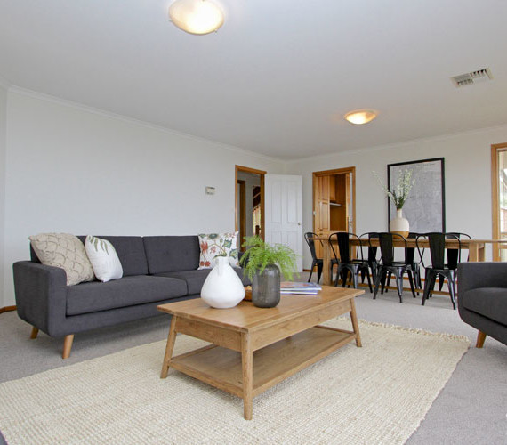 Property staging in a large family home