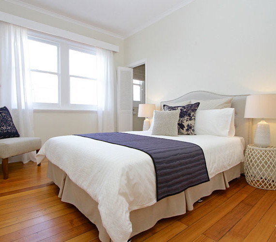 Master bedroom property styling Hobart