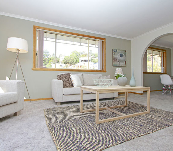 Lounge room home styling West Hobart