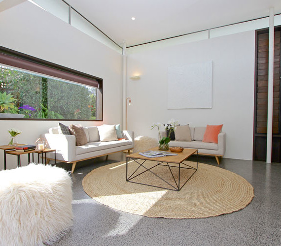 Bright open living space styled for sale