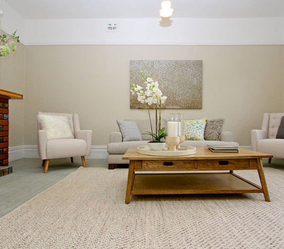 Styling a lounge room in a hobart home for sale
