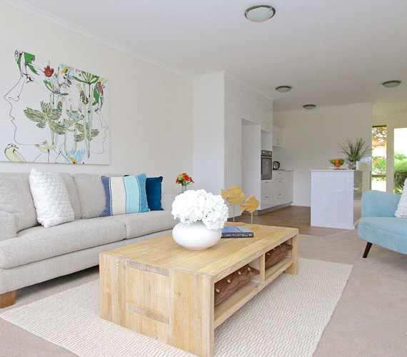 Lounge room styling in a lifestyle village