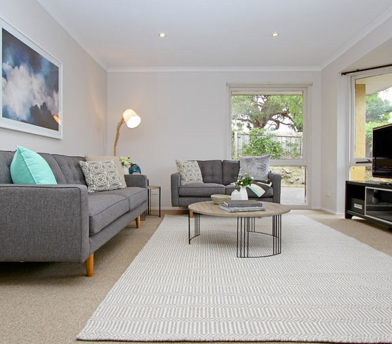 Lounge room property styling hobart