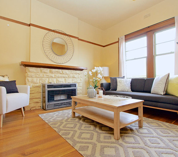 Lounge room interior styling Hobart