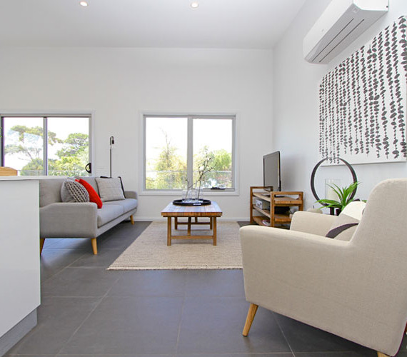 Modern townhouse interior styling