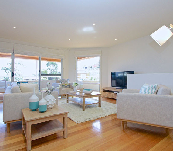 Home stylists Shift Property Styling transformed this space