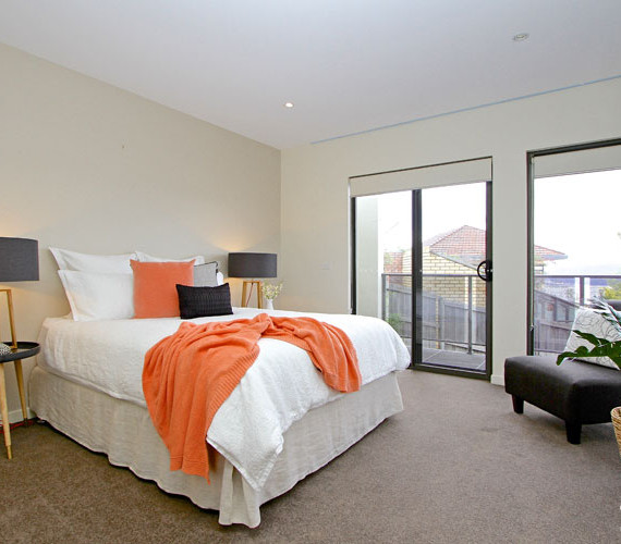 A stunning master bedroom styled for sale