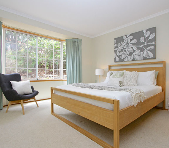 Master bedroom styled for sale