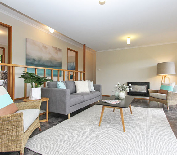 Lounge room styling in home for sale