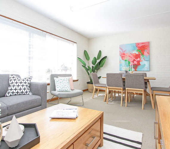 Light and bright unit property styling