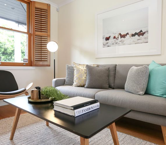 Cool grey sofa in this styling