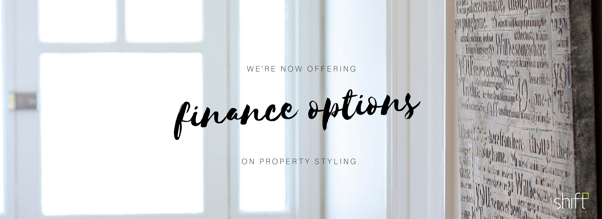Finance options for property styling
