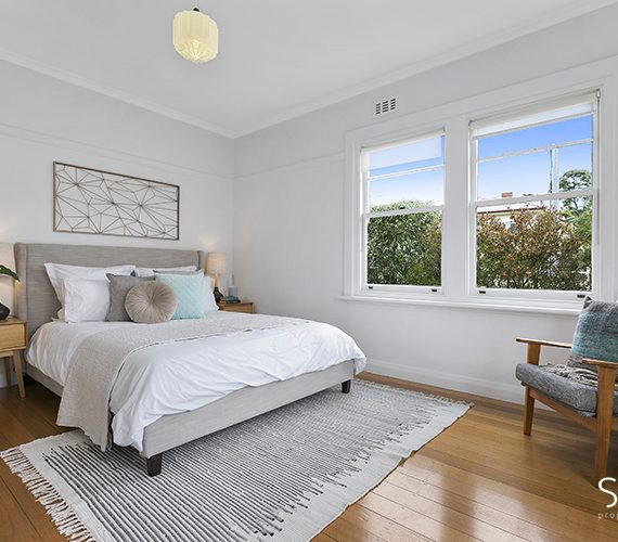 Master bedroom with soft design features