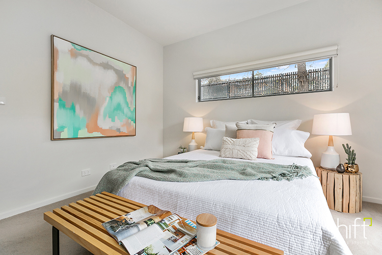 Pastels in the master bedroom styling