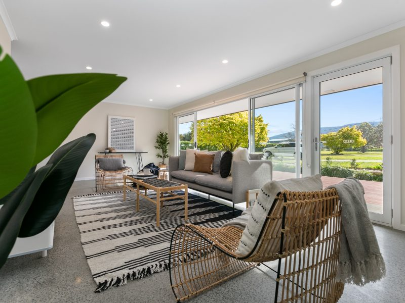 Builder display home lounge styling