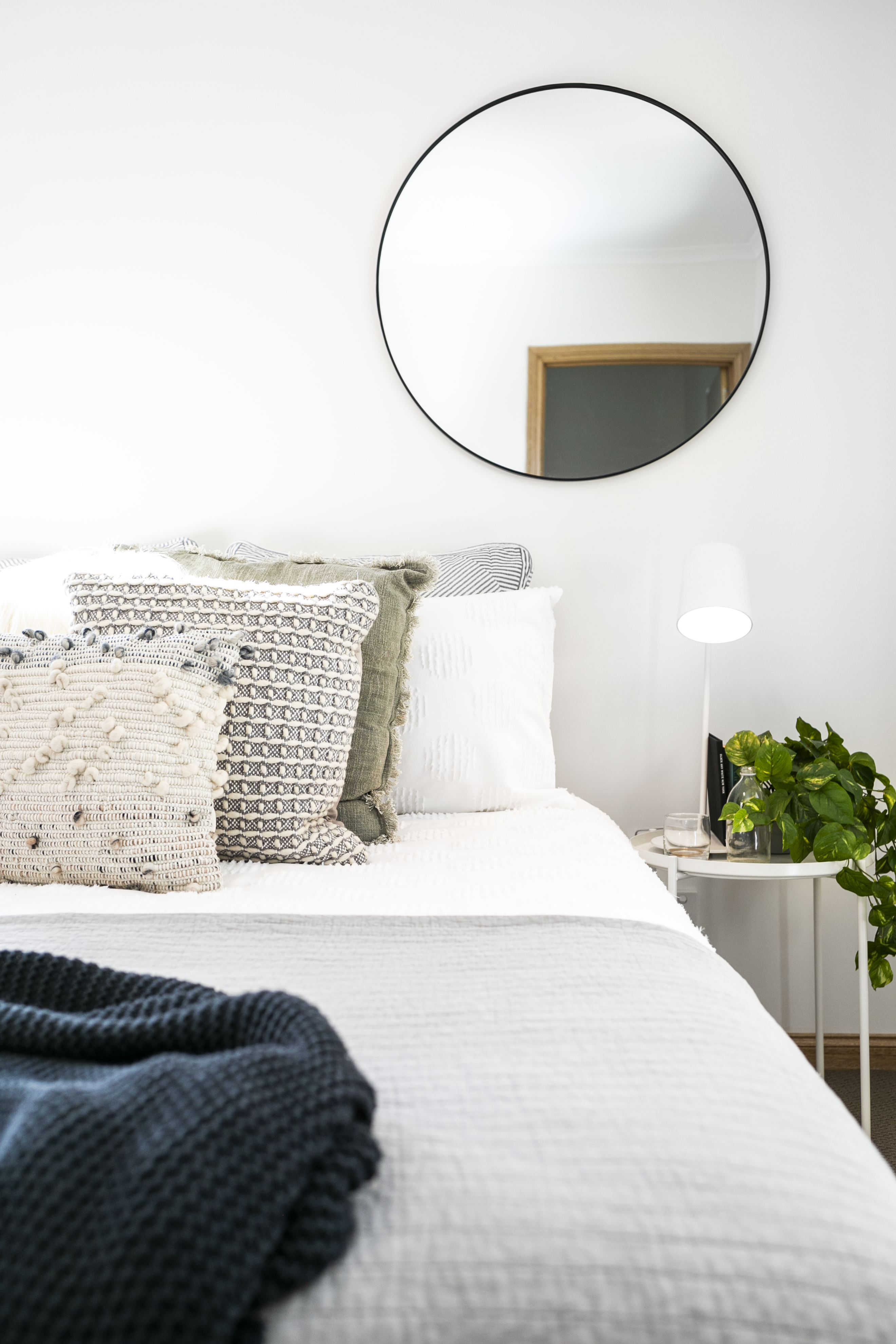 Classic modern interior styling bedroom details Hobart